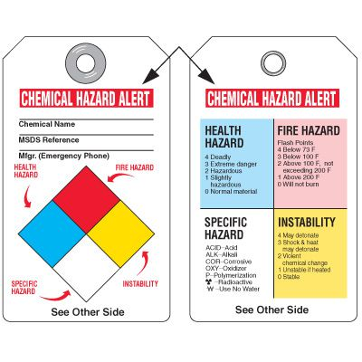 Chemical Hazard and Biohazard Tags