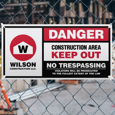 Giant Construction Site Signs
