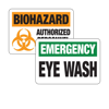 First Aid, Eyewash & Biohazard Sign