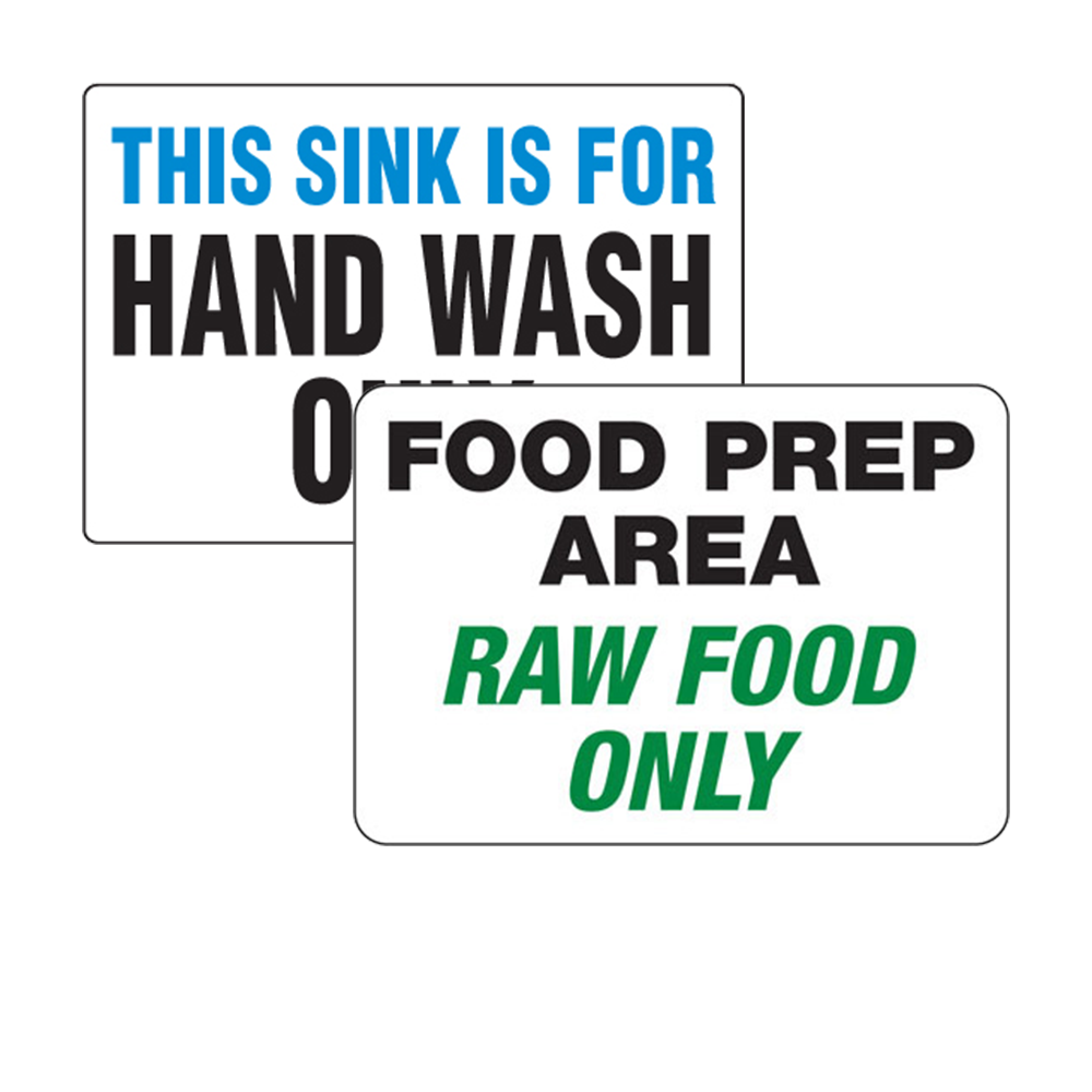 Food Safety & Wash Hands Signs