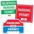 Vinyl Adhesive Parking Permits