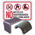 Skateboard Deterrents & No Skateboarding Signs
