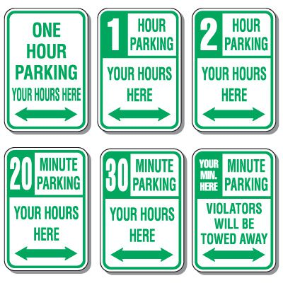 Parking Time Limit Signs