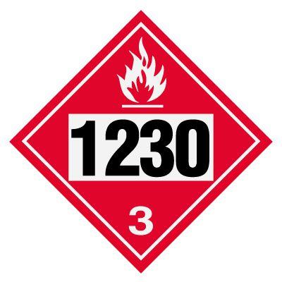 1230 Methanol - DOT Placards