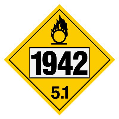 1942 Ammonium Nitrate - DOT Placards