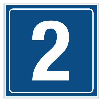 2 - Engraved Door Number Signs