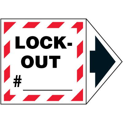 2-Part Arrow Labels - Lock-Out #_
