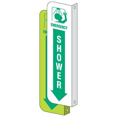 2-Way View Emergency Shower Sign