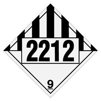 2212 Asbestos - DOT Placards