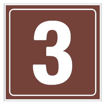 3 - Engraved Door Number Signs
