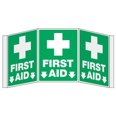 3D Projection Signs - First Aid