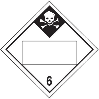 Inhalation Hazard 4 Digit Blank Placards
