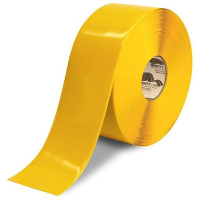 4 Yellow Solid Mighty Line Freezer Tape