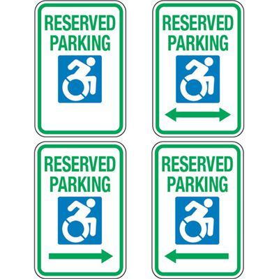 Accessible Icon Parking Sign - Reserved Parking (With Graphic)