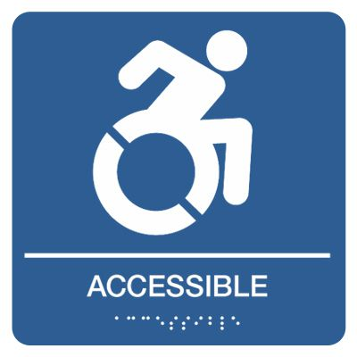 Accessible w/ Dynamic Accessibility Graphic - Graphic Braille Signs