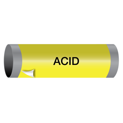 Acid - Ultra-Mark® Self-Adhesive High Performance Pipe Markers