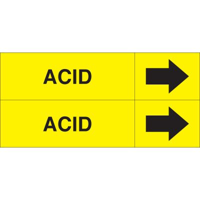 Acid - Weather-Code™ Self-Adhesive Outdoor Pipe Markers