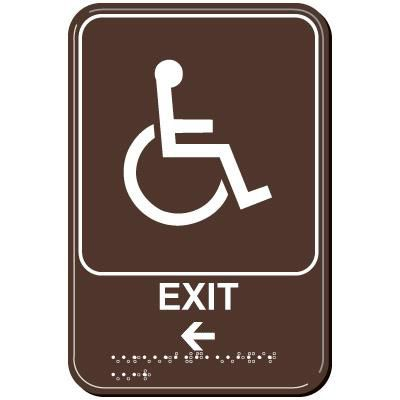 Exit Arrow Left ADA Signs