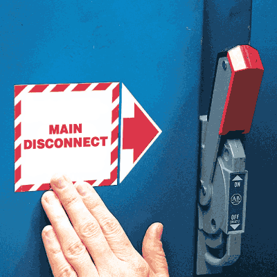 Add-An-Arrow Lockout Labels - Main Disconnect