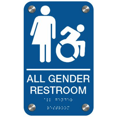 All Gender (Dynamic Accessibility) - Premium ADA Restroom Signs
