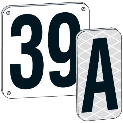 8 White Aluminum Number And Letter Plates