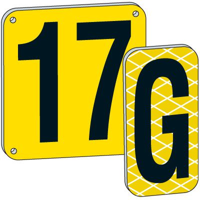 18 Yellow Aluminum Number And Letter Plates