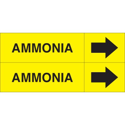 Ammonia - Weather-Code™ Self-Adhesive Outdoor Pipe Markers