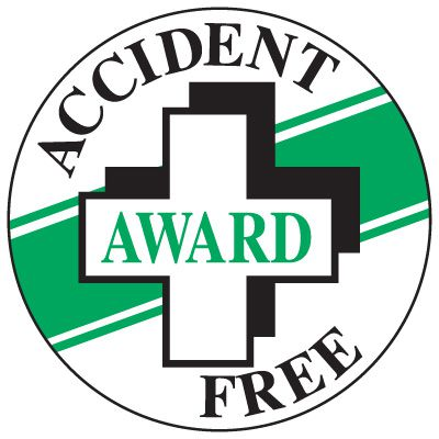 Accident Free Award Label
