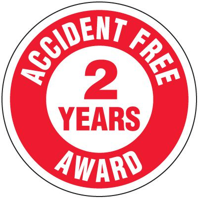 Accident Free Award 2 Years Label