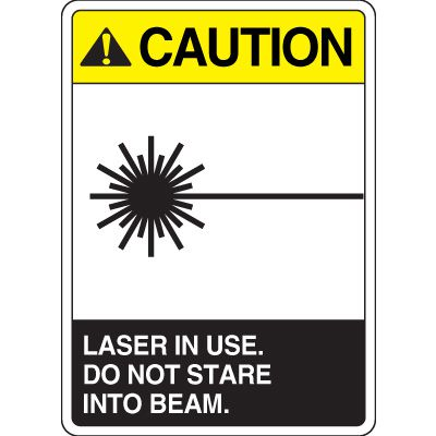 ANSI Caution Laser Signs