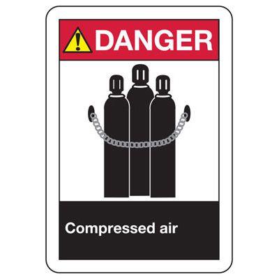 ANSI Signs - Danger Compressed Air