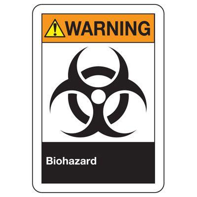 ANSI Signs - Warning Biohazard