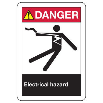 ANSI Signs - Danger Electrical Hazard