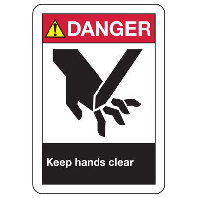 ANSI Signs - Danger Keep Hands Clear
