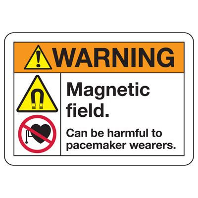 ANSI Safety Signs - Warning Magnetic Field