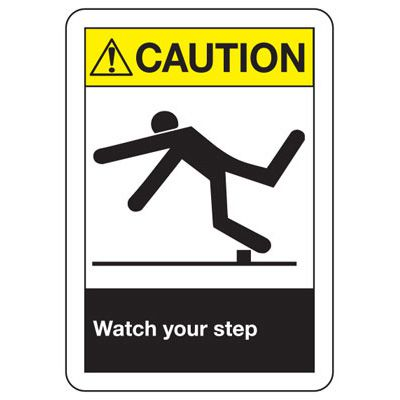 ANSI Caution Watch Your Step Signs