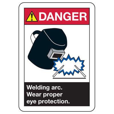 ANSI Danger Welding Arc Signs