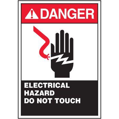 ANSI Warning Labels - Danger Electrical Hazard