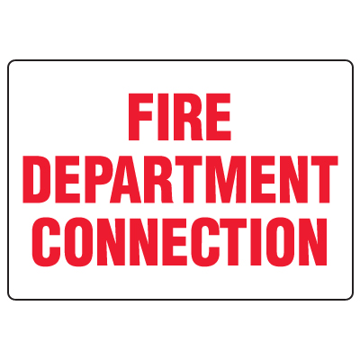 Antimicrobial Signs - Fire Department Connection
