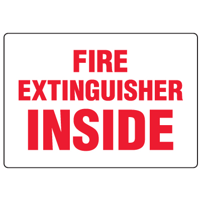 Antimicrobial Signs - Fire Extinguisher Inside