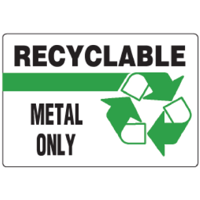 Antimicrobial Signs - Recyclable Metal Only