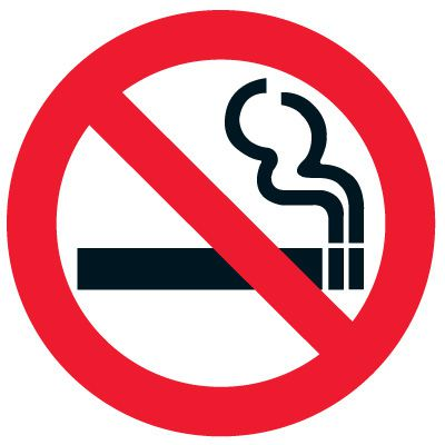 Floor Safety Signs- No Smoking Graphic