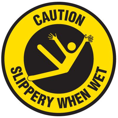 Floor Safety Signs - Caution Slippery When Wet
