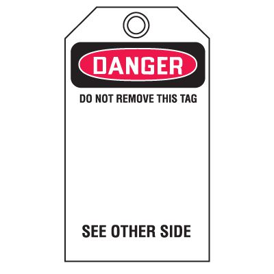 Danger Hands Off - Accident Prevention Safety Tags