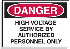 Baler Safety Labels - Danger High Voltage