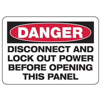 Baler Safety Signs - Danger Disconnect And Lock Out Power