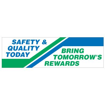Safety And Quality Banner