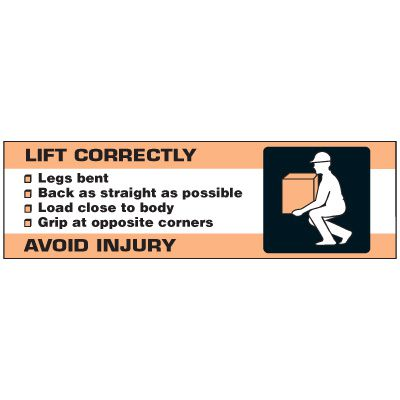 Lift Correctly Banner