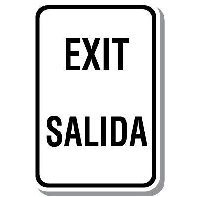 Bilingual Exit - Salida Sign