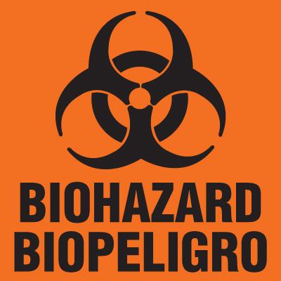 Biohazard Labels - Biohazard Biopeligro